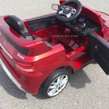 Электромобиль Mercedes Benz ML350 красный (колеса резина, сиденье кожа, пульт, музыка)