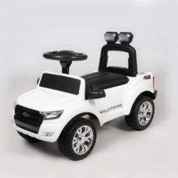 Толокар Ford Ranger DK-P01 белый (колеса резина, кресло кожа, свет фар, музыка)