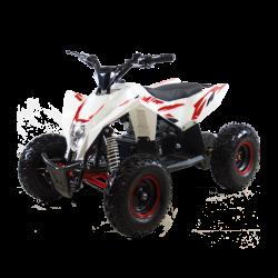Детский квадроцикл на аккумуляторе Motax GEKKON 1300W бело-красный (пульт контроля, до 38 км/ч)